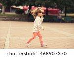 stylish toddler girl model...   Shutterstock . vector #468907370