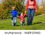 mother with little son and... | Shutterstock . vector #468910460
