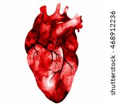 unusual human heart. hand drawn ... | Shutterstock . vector #468912236