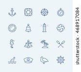 nautical vector icon set | Shutterstock .eps vector #468917084