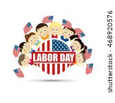 vector illustration labor day a ... | Shutterstock .eps vector #468920576