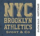 athletic sport new york... | Shutterstock .eps vector #468930668