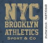 athletic sport new york... | Shutterstock .eps vector #468930668