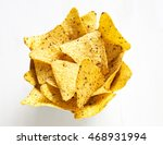 corn nachos on light wooden... | Shutterstock . vector #468931994