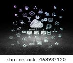cloud networking concept ... | Shutterstock . vector #468932120