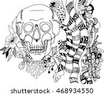 hand drawn black and white... | Shutterstock .eps vector #468934550
