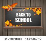 autumn background with... | Shutterstock .eps vector #468936740