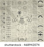 set of 200 hand drawn doodle... | Shutterstock .eps vector #468942074