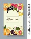 vector fruit and berry banner.... | Shutterstock .eps vector #468942344