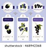 vector berry cosmetic banner... | Shutterstock .eps vector #468942368
