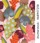 beautiful seamless pattern with ... | Shutterstock .eps vector #468947258