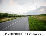mountain country road in summer ... | Shutterstock . vector #468951893