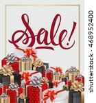 sale lettering and gifts | Shutterstock .eps vector #468952400