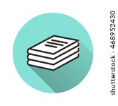 book vector icon with long... | Shutterstock .eps vector #468952430
