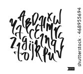 alphabet letters.black... | Shutterstock .eps vector #468955694