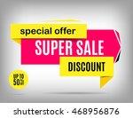 sale banner design. discount... | Shutterstock .eps vector #468956876