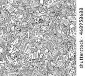 cartoon cute doodles hand drawn ... | Shutterstock .eps vector #468958688