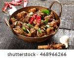 indian cuisine famous indian... | Shutterstock . vector #468966266