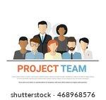 flat illustration of project...   Shutterstock .eps vector #468968576