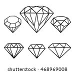 Set Of Vector Diamonds. Vector...