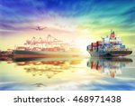logistics and transportation of ... | Shutterstock . vector #468971438