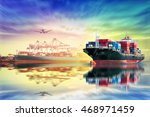 logistics and transportation of ... | Shutterstock . vector #468971459
