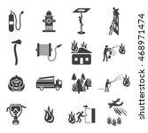 firefighting icons set  vector... | Shutterstock .eps vector #468971474