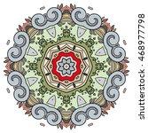 mandala flower decoration ... | Shutterstock .eps vector #468977798