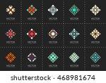 geometric logo template set.... | Shutterstock .eps vector #468981674