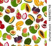 exotic fruits background with... | Shutterstock .eps vector #468985748