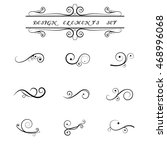 calligraphic design elements... | Shutterstock .eps vector #468996068