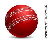 cricket ball. sports equipment. ... | Shutterstock .eps vector #468996683