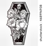 decorative coffin in flash... | Shutterstock .eps vector #468996938
