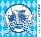 oktoberfest vector illustration.... | Shutterstock .eps vector #468998948