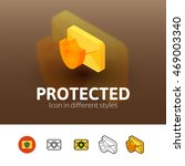 protected color icon  vector...