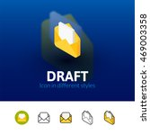 draft color icon  vector symbol ...
