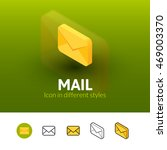 mail color icon  vector symbol...