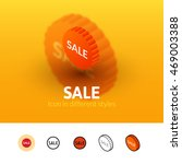 sale color icon  vector symbol...