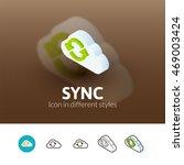 sync color icon  vector symbol...