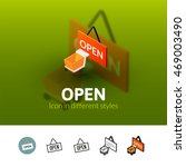 open color icon  vector symbol...