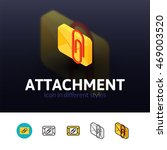 attachment color icon  vector...
