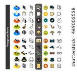 set of icons in different style ... | Shutterstock .eps vector #469003538