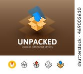 unpacked color icon  vector...