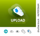 upload color icon  vector...