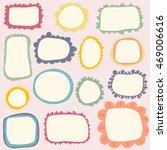 hand drawn cute frames set.... | Shutterstock .eps vector #469006616