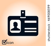 identification card icon. flat... | Shutterstock .eps vector #469008599