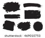 vector set of grunge artistic... | Shutterstock .eps vector #469010753