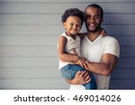 portrait of handsome young afro ... | Shutterstock . vector #469014026