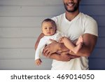 cropped image of handsome young ...   Shutterstock . vector #469014050