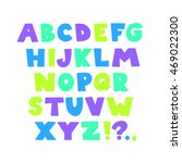 bright funny childish alphabet. ... | Shutterstock .eps vector #469022300